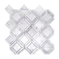 Jeff Lewis Carlyle Carrara 11-1/8 in. x 11-1/8 in. x 8 mm Marble Mosaic Tile 98478 at The Home Depot - Mobile