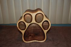 Dog paw print jewelry box Two sided-Medium by ImageryWoodworking
