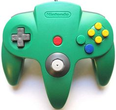Green Controller --- This one was mine :) Nintendo 64, Boost Credit Score, V Games, Video Games, Game Controller, Geek Stuff, Green, Projects, Manual