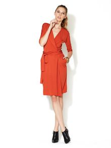 3/4 Sleeve Wrap Dress by C Costello Tagliapietra at Gilt