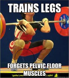Uh oh. Are you that guy who forgets to train your pelvic floor muscles? Remember to train them EVEN on legday! #pelvicfloor #legday #kegels #menshealth