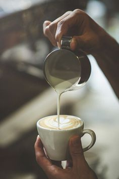 foamy milk for latte -or- coffee #photography - photography inside the cafe