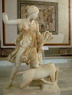 Artemis and Deer, Delos Archaeological Museum / by twiga_swala, via Flickr