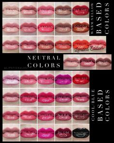 Updated collage of available and soon to be available LipSense colors. Blackberry LipSense with warm and cool tone LipSense in stock 36 plus