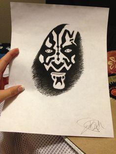 My drawing of darth maul! It's not very good. #darthmaul #art #drawing #starwars