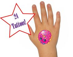 Shopkins Season 1 Temporary Tattoos