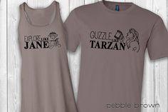Couple's 2 Tarzan/Jane EPCOT shirts Food and Wine Tarzan And Jane, Happy Couples, Couple Shirts, Disney Shirts, Epcot, Wine Recipes, Custom Shirts, Shirt Style, Dance