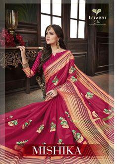 e56e6f44dc KAPDAVILLA👉 Mishika by triveni cotton fancy stylish saree catalogue from  surat wholesaler best price at Wholesale Price.