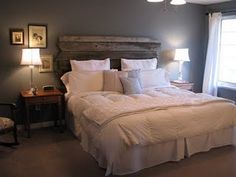 Yes!!! I need a headboard and this is totally it!!! So cute and rustic!!