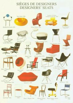 Iconic chairs of history Furniture Styles, Modern Furniture, Furniture Design, Bauhaus Furniture, Mid-century Modern, Modern Design, Love Chair, Mid Century Furniture, Chair Design