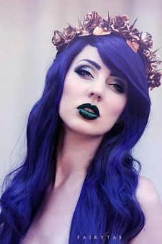 DIY Halloween Hair: DIY Halloween Hairstyles: pastel goth #happy #halloween #think #HairBoothTeam #HairBoothSalon #StyleMadeSocial #YYC - www.hairbooth.ca
