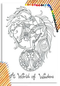 Wonders Colouring Page 'The Circus Girl Colouring