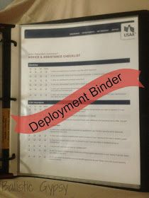 FREE USAA Deployment Kit + Empty Binder = Instant Deployment Binder (not complete, but it has great ideas!)