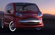 Multipla Vorto Concept nice retro concept by Ali Cam of Fiat 600 Multipla Vort popular throughout Europe in the and Scary Bugs, Garage Ceiling Storage, Fiat 600, Garage Interior, Car Engine, Motor Car, Custom Cars, Concept Cars, Erotica