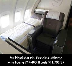 Funny pictures about First Class Flight. Oh, and cool pics about First Class Flight. Also, First Class Flight photos. Flying First Class, First Class Seats, Plane Seats, First Class Flights, Private Plane, Private Jets, Aircraft Interiors, Travel Humor, Funny Travel