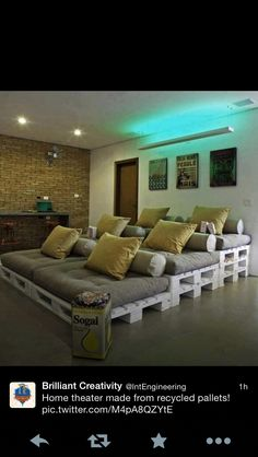 Sofas made with pallets