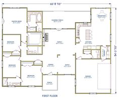 European Traditional House Plan 40511 Level One