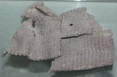 Alba Iulia National Museum. Fragments of a Dacian chain mail shirt from the Dacian warrior tomb of Cugir, dated 1st century BC.