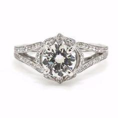 Vintage Inspired Diamond Engagement Ring by Harold Stevens