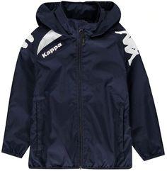 Kappa Vado Jacket Junior Boys Blue Marine Nike Jacket, Rain Jacket, Boy Blue, Outdoor Outfit, Jackets Online, Signature Logo, Kappa, Classic Looks, Kids Outfits