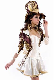 Mad Hatter costume adult Alice In Wonderland costume women cosplay halloween costumes for women Magician y fantasy Dress