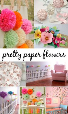 DIY Paper Flowers - 5 different ways to do them with tutorial! Project Nursery