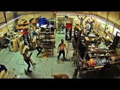 Harlem Shake. Original Skateboards.   Another day at the office. Building Longboards. Doing work.    There are three dogs.    MUSIC: Baauer - Harlem Shake        All thanks to v1 @TheSunnyCoastSkate; http://www.youtube.com/watch?v=384IUU43bfQ and of course the true original v0: Filthy Frank http://www.youtube.com/DizastaMusic and FF's video; http://www...
