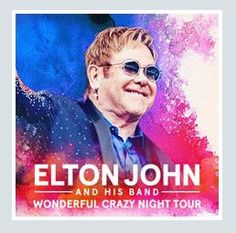 2017 - ELTON JOHN, July 14 Mantova;  tickets are available in Vicenza at Media World, Palladio Shopping Center, or online at www.ticketone.it, www.vivaticket.it, and www.geticket.it.