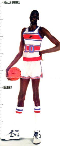 Basketball Art, Basketball Players, Manute Bol, Aba, Shoe Collection, Ronald Mcdonald, Kicks, Classic, Black
