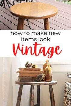 Cheap way to add vintage decor style. vintage decor diy ideas creative. diy vintage furniture makeover. #hometalk #vintagediy #vintagemakeover
