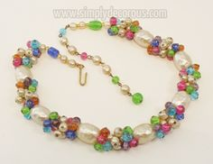 French glass pearl and gripoix glass choker.