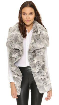 Jocelyn Fur Vest, size small