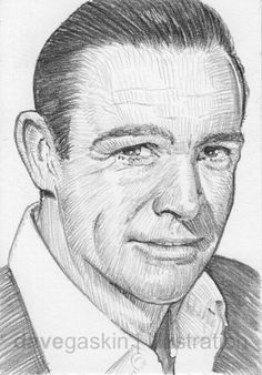 Sketch card of Sean Connery