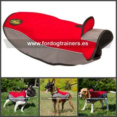 #Abrigo para #perros de #nylon #impermeable ideal para paseos en temporadas frías y lluviosas. Haga clic para ver más detalles https://www.fordogtrainers.es/index.php/arneses/sudadera-perro-reflectante-de-nylon-capa-chubasquero-detail