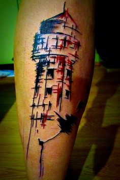 Tattoo by Filip Sečka (lighthouse) https://www.instagram.com/filipsecka/