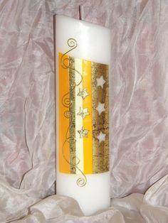 Kerzen & Beleuchtung - Weihnachtskerze Sterne - ein Designerstück von Silberlicht21 bei DaWanda