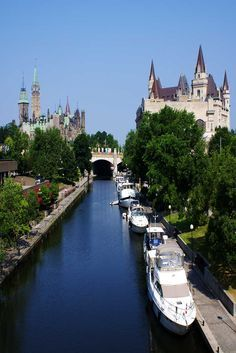 Rideau Canal in Ottawa, Canada Places Around The World, Oh The Places You'll Go, Places To Travel, Places To Visit, Around The Worlds, Ottawa Canada, O Canada, Canada Travel, Ottawa City