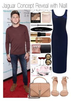 """• Jaguar Concept Reveal with Niall"" by dianasf ❤ liked on Polyvore featuring Topshop, Rimmel, Stuart Weitzman, Yves Saint Laurent, Marc Jacobs, NARS Cosmetics, Maybelline, Zelens, Jouer and Bobbi Brown Cosmetics"