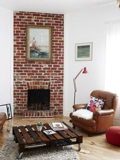 Exposed Brick Fireplace   Google Search | New House Ideas | Pinterest |  Bricks, Exposed Brick Fireplaces And Exposed Brick