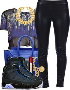 """""""Leather Blues."""" by snake-biter ❤ liked on Polyvore"""