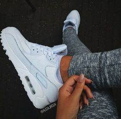 girl, grey, just do it, luxury, nails, nike, shoes,