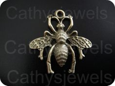 Tibetan Style Bee Pendant Charms Antique Gold Six by Cathysjewels, $2.25