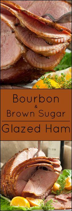 and brown sugar glazed ham gluten free bourbon and brown sugar glazed ...