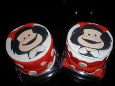 Resultado de imagem para bolos dos anos da mafalda