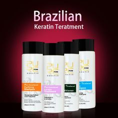 PURC Chocolate Keratin 4x100ml Hair Straightening Repair For Hair Care At Home #PURCChocolateChina