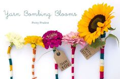 Yarn-Bombed Flowers