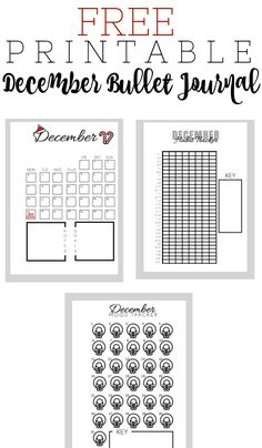 Free Printable December Bullet Journal Layout for your A5 journal.