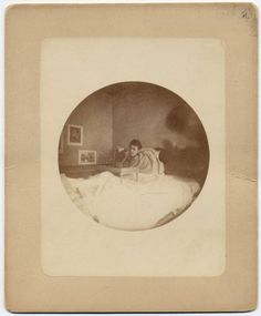 *JACK (Abraham II) LINCOLN ~ (1890), This photograph is one of several Kodak snapshots taken by Robert's children while they lived in London. Here 16-year-old Jack sits in his bed during his last illness. Jack died of blood poisoning on March 5, 1890. Title: Jack (Abraham II) Lincoln (1890), Creator: unknown, Origin Date: 1890