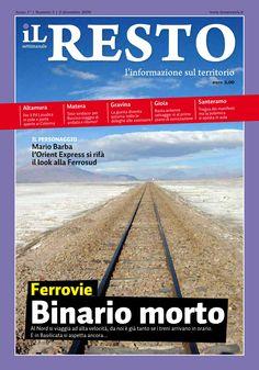 La copertina del n. 3 del settimanale iL Resto - è possibile scaricare la copia in formato elettronico all'indirizzo www.ilresto.tv/archivio