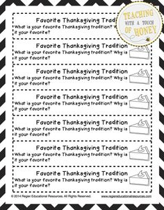 $ Need ideas to get your students writing? Promote writing with these Thanksgiving journal writing prompts.